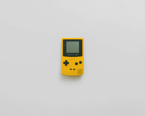 yellow gameboy Kate Jeziorska web development